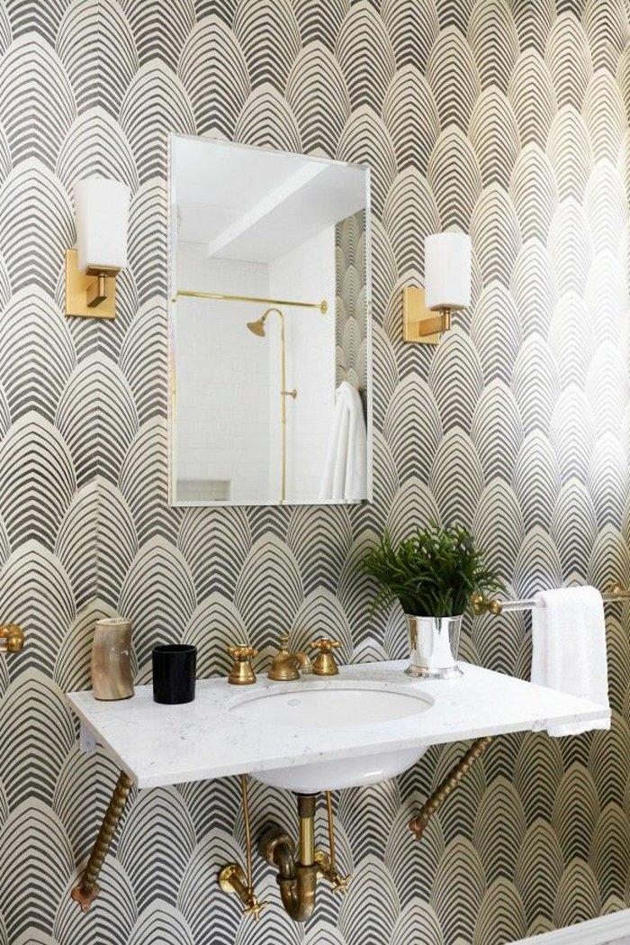 Le papier peint r invente votre pi ce deco maison for Papier peint vinyle salle de bain