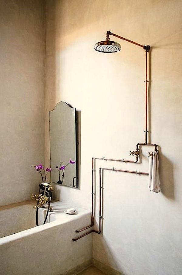 Déco cuivre salle de bain