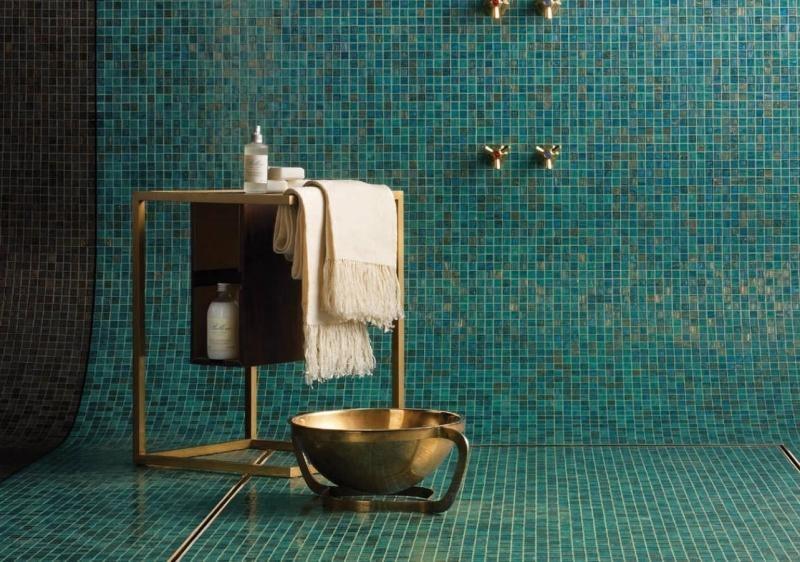 Meuble déco salle de bain cuivre
