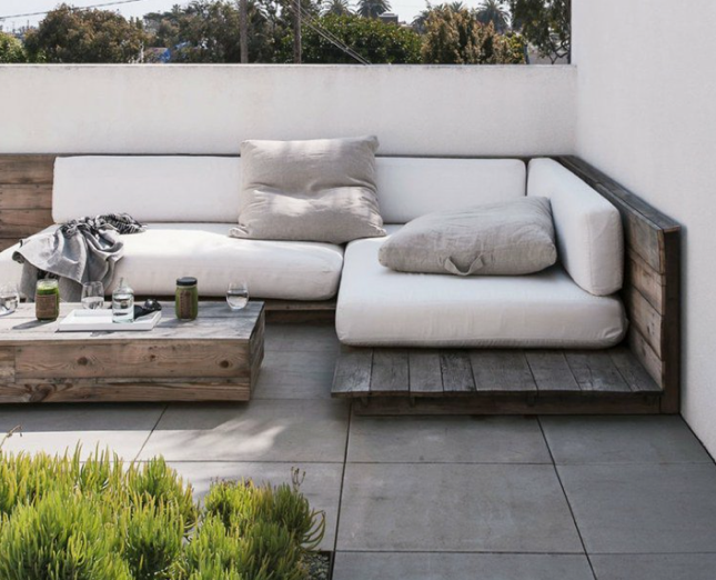 Canapé jardin patio