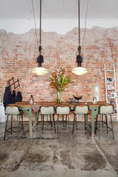 Papier peint cuisine loft