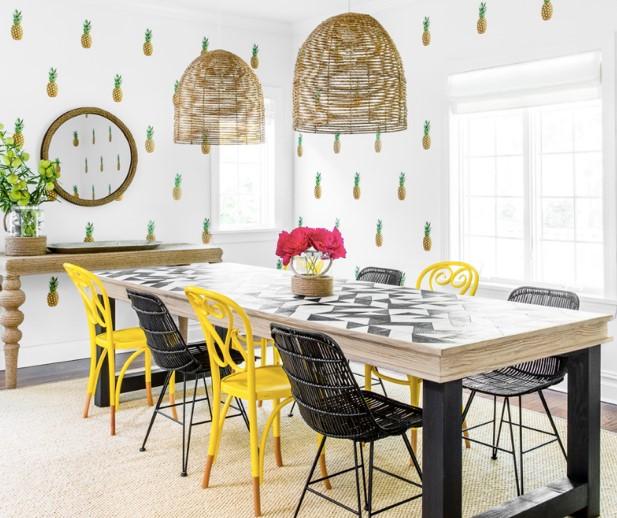 Déco papier peint ananas