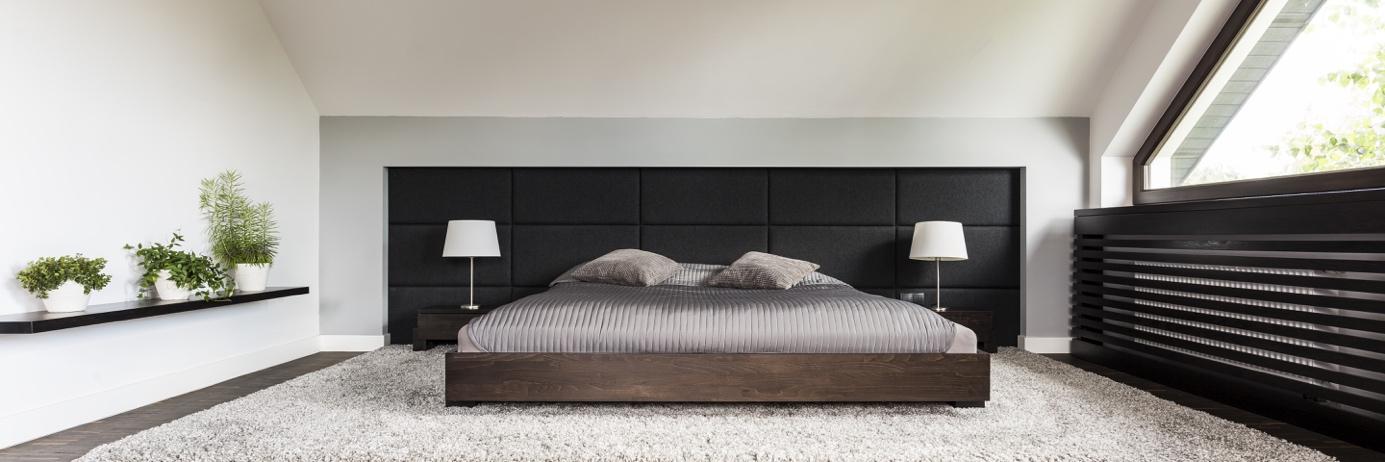 tête de lit intégrée au mur